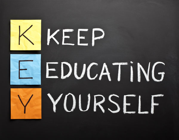 acronym - KEY - keep-educating-yourself
