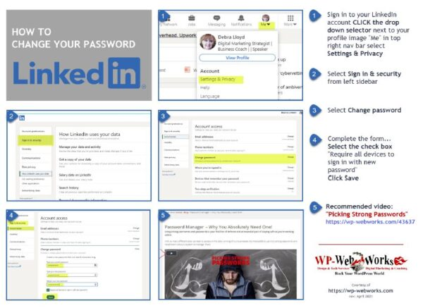 Image: how to change LinkedIn password step-by-step instructions