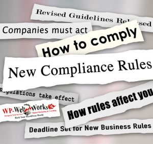 image - newspaper headlines regarding new compiance rules